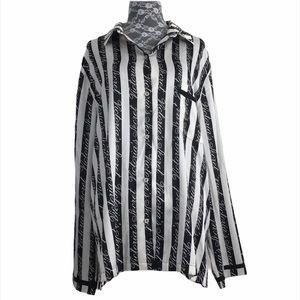 Victoria's Secret Black White Striped Night Shirt
